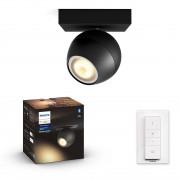 Philips HUE White Ambiance 50471/30 / P6 BUCKRAM spot 1xGU10 5.5W / 250lm 2200-6500K + SWITCH černá Bluetooth