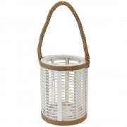 Home Styling Collection Dřevěná lucerna s rukojetí, svícen