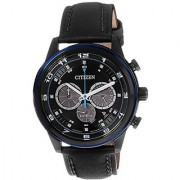 Citizen Black Stainless Steel Round Dial Quartz Watch For Men (CA4036-03E)