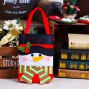 Cena De Navidad Decoracion De Mesa Santa Gift Bag, Snowman Patron De Tela No Tejida Regalos Pequeños Bolsos