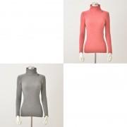 Stylemakerクローバーモチーフ付起毛暖かハイネック2色組【QVC】40代・50代レディースファッション