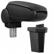 [pro.tec]® Naslon za ruke – specifičan za Hyundai I20 / (GB) - naslon za ruke za auto - sa pretincem - tkanina - crno