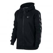 Nike FELPA FULL ZIP CON CAPPUCCIO LOGO TAPE DONNA