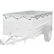FLACHPLANE 200x106 Garden Trailer für Pkw-Anhänger - grau