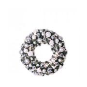 Xmasdeco Luxury Wreath Bright Silver 50cm