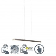 Trio Leuchten Hanging lamp steel four steps dimmable incl. LED with touch dimmer - Oganda