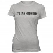 The Mermaid Collection Camiseta #Team Mermaid - Mujer - Gris - XXL - Gris