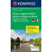 Wandelkaart - Fietskaart 2220 Elsass - Vogesen Nord, Alsace - Vosges du Nord | Kompass