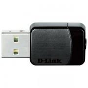 Adaptor USB Wireless, Dual-Band 300 + 433Mbps, negru, D-LINK DWA-171