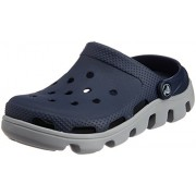 Crocs Unisex Duet Sport Clog Navy and Light Grey Rubber Clogs and Mules - M8/W10