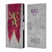 Official HBO Game of Thrones Lannister Sigil Flags Leather Book Wallet Case Cover for Samsung Galaxy Note9 / Note 9