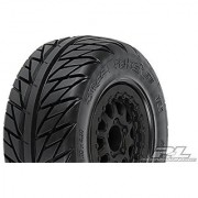 Pro-Line Racing 1167-17 Street Fighter Sc 2.2 /3.0 Tires Mounted On Renegade Black Wheels