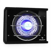 Auna HiFi субуфер, бас бокс за автомобил, 600 W, LED светлини (C8-CB250-34)