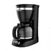 Expresor-Cafetiera Savory 1100D, Putere 900W, Ecran LCD, Ceas, Negru