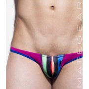 Mategear Kum Ja VI Special Fabrics Front Oval Striped Mini Bikini Swimwear Multicolor 1410802