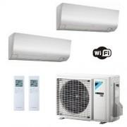 Daikin Condizionatore Dual Split 7+12 Perfera FTXM-N WiFi Bianco FTXM20N+ FTXM35N+ 2MXM40M 7000+12000 Btu A++ A++ R-32