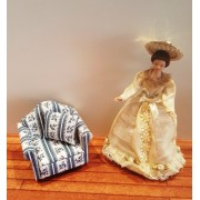 Fotoliu tapitat cu model - miniatura papusi