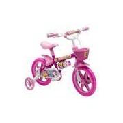 Bicicleta Infantil Flower Feminina Aro 12 Com Cestinha Rosa Nathor
