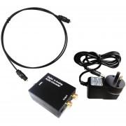 Digital óptica Toslink Coaxial De TV De Audio Analógico RCA SPDIF Equipamiento De Hogar