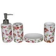 Set baie cu model floral (4 piese)