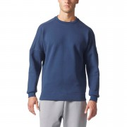 adidas Men's ZNE Training Crew Sweatshirt - Navy - S - Navy