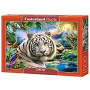 Puzzle Tigru la apus, 1500 piese