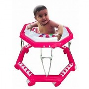 Suraj Baby pink color 8 wheel musical Walker for your kids Se-W-55