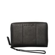 Rusty Getaway Leather Travel Wallet Matte Black