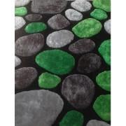 Tempo Kondela, Koberec, PEBBLE TYP 1, zelená/sivá/čierna, 200x300