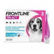Tri-act para cães dos 10 aos 20kg 3pipetas - Frontline
