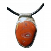 Metro Mod Man Kentucky Agate Super Red Pendant MP-AGSR298