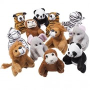 Stuffed Toy, Set of 12 Plush Animals, Includes a Plushed Bear, Lion, Monkey, and Much More
