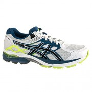 Asics Men's Gel Pulse 7 White, Onyx and Mosaic Blue Mesh Running Shoes - 6 UK