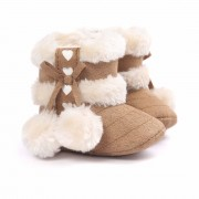 5 Colors Girls Soft Plush Booties Infant Anti Slip Snow Boots Warm Cute Snow Baby Girl Winter Boots