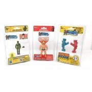 Worlds Smallest World's Toys Rock'Em Sock'Em Robots - Stretch Armstrong Gi Joe Set of 3