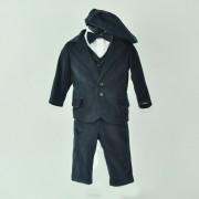 Soffi Baby Compleu Botez baietei compus din 6 piese bleumaren cu camasa alba