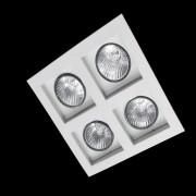 Spot Embutir Flat4 Lâmpadas E27 Branco Attena
