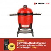 KAMADO JOE BIG JOE III keramički roštilj na ugljen s postoljem