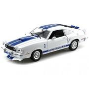 Charlie's Angels 1976 Ford Mustang Cobra II 1/18 White w/ Blue Stripes