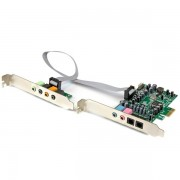 Tarjeta de sonido PCI Express 7.1 Canales Startech PEXSOUND7CH