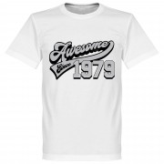 Retake Awesome Since 1979 T-Shirt - Wit - S