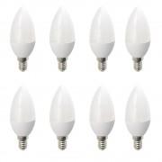 Set 8 Becuri LED Drimus E14 6W lumina rece DL-6062