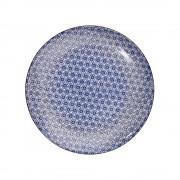 RETRO Jídelní talíř - modrá