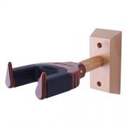 ELECTROPRIME® Auto Lock Wall Hanger Hook for Ukulele Violin Viola DIY Parts Red Wood