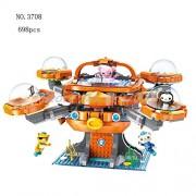Generic The Octonauts Building Blocks All Set Octo-Pod Octopod Playset Educational Enlighten Bricks Toys for Children 3708