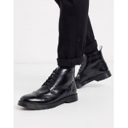 KG Kurt Geiger KG by Kurt Geiger lace up leather chunky boot in black - male - Black - Size: 8