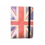 Universele Britse vlag design tablethoes met standaard voor 8 inch tablets