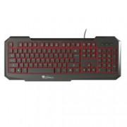 Клавиатура Natec Genesis RX11, гейминг, подсветка, Anti Ghosting черна, USB