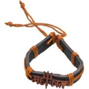 Sullery Lord Shiv Trishul Mahakal Leather Bracelet