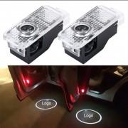 2 PCS LED Coche Puerta Bienvenido Logo Marca De Coches 3D Sombra Luz Para Audi
